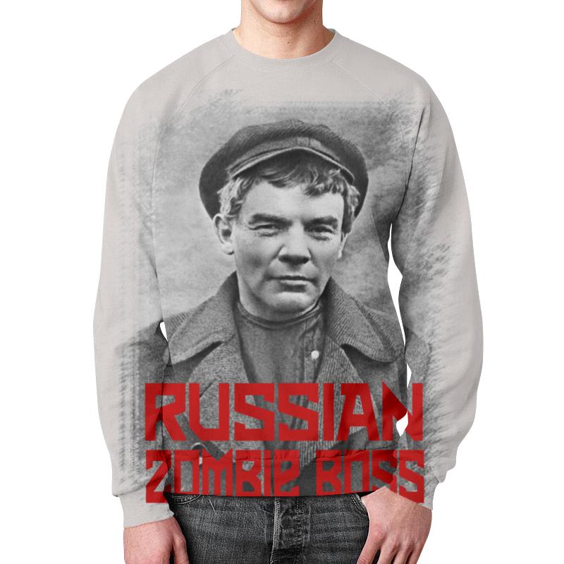 Свитшот мужской с полной запечаткой Printio Lenin russian zombie boss свитшот унисекс с полной запечаткой printio rock zombie