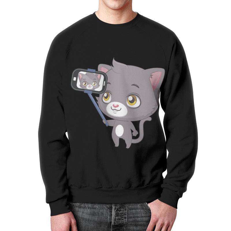 Свитшот мужской с полной запечаткой Printio Селфи.котёнок свитшот мужской с полной запечаткой printio дудлы