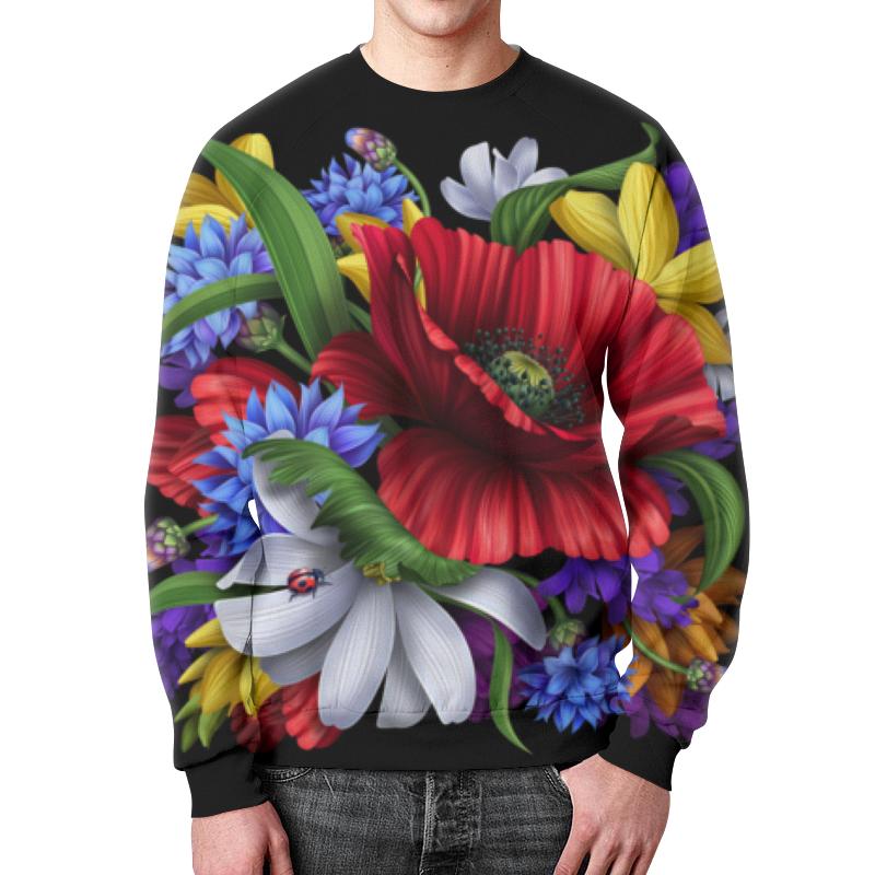 Свитшот мужской с полной запечаткой Printio Композиция цветов композиция из цветов и конфет