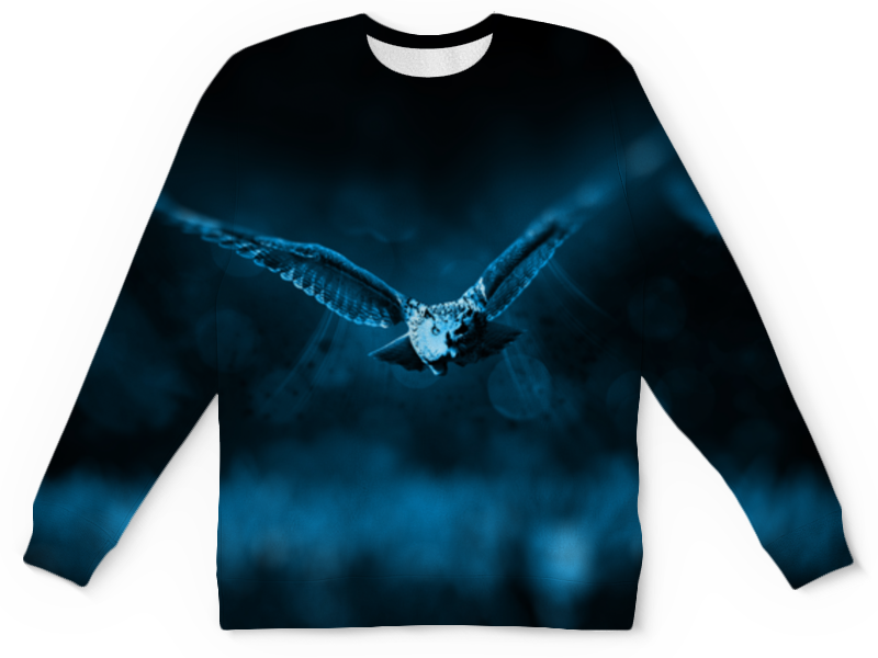 Свитшот унисекс с полной запечаткой Printio Свитшот летящая сова