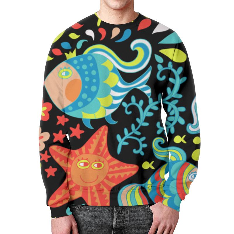 Свитшот мужской с полной запечаткой Printio Обитатели моря свитшот мужской с полной запечаткой printio мать моря