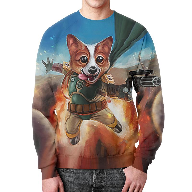 dvs dog vip star шлейка Свитшот унисекс с полной запечаткой Printio Boba dog (star wars)