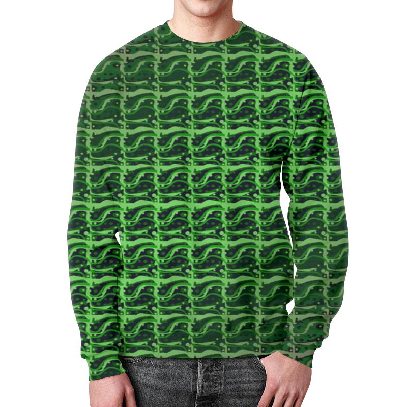 Свитшот унисекс с полной запечаткой Printio Зеленая абстракция.