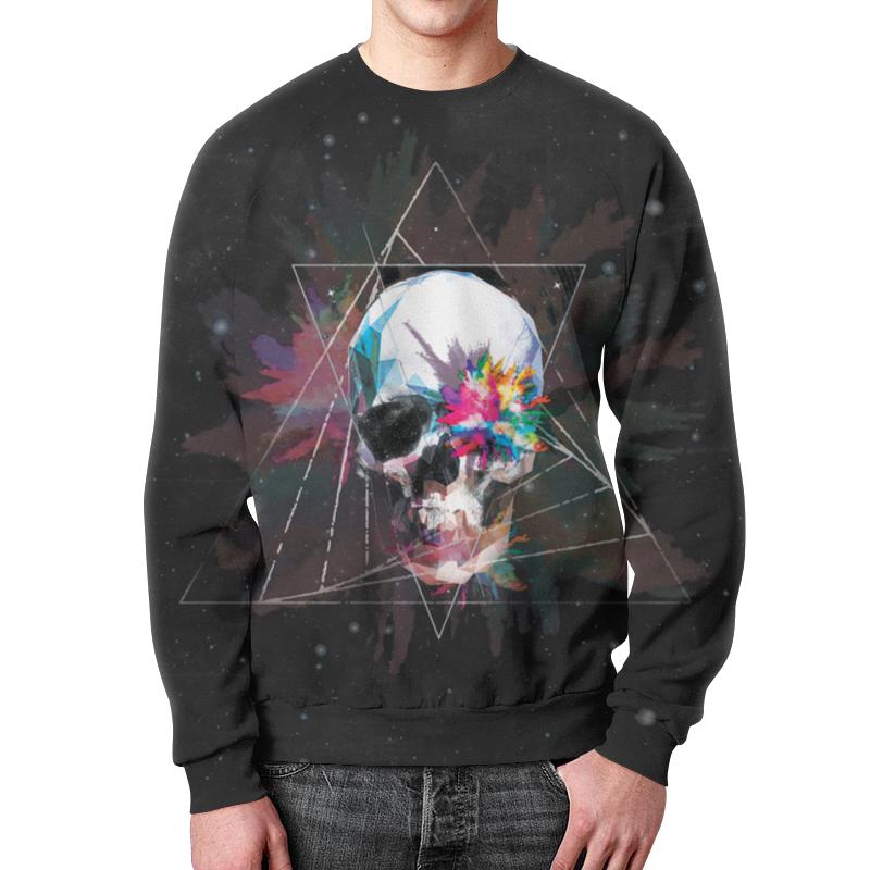 Свитшот мужской с полной запечаткой Printio Skull - 18 свитшот print bar hardcore punk skull