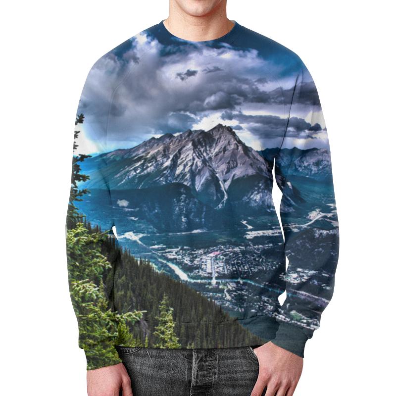 Свитшот мужской с полной запечаткой Printio Тучи над горами максим михайлов тучи над боснией