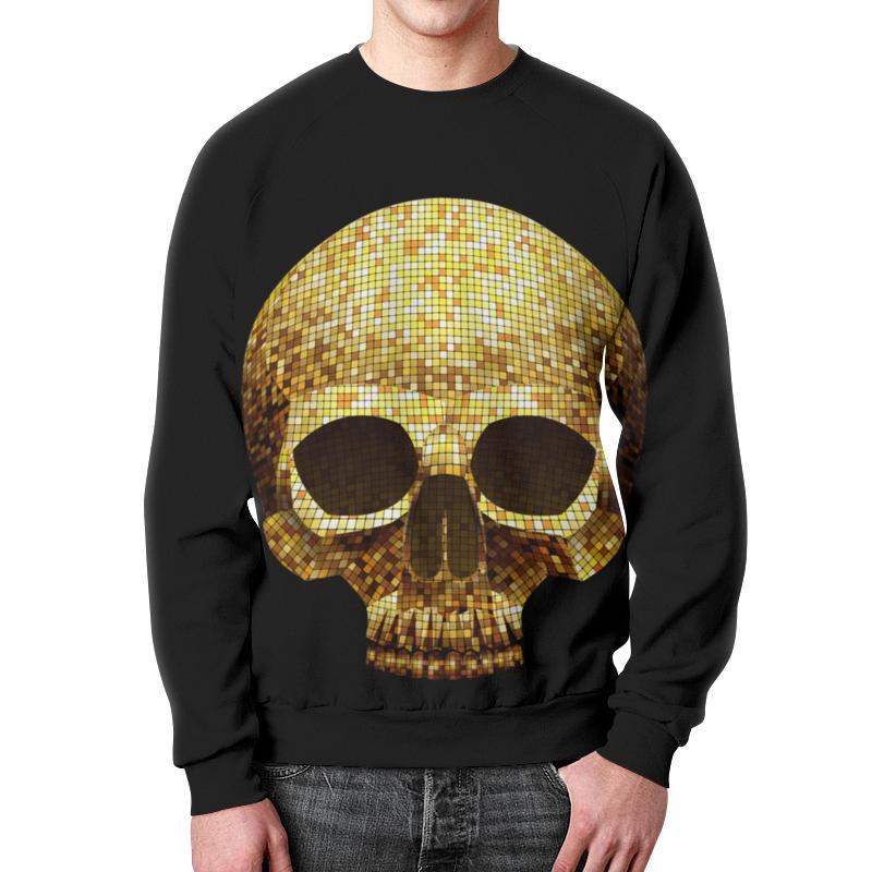 Свитшот унисекс с полной запечаткой Printio Gold skull свитшот print bar hardcore punk skull