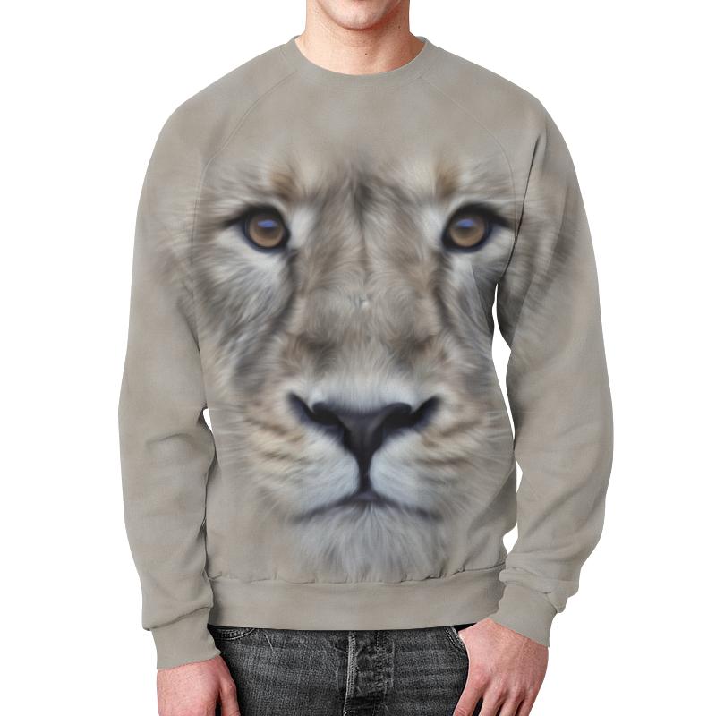 Свитшот мужской с полной запечаткой Printio Лев свитшот унисекс с полной запечаткой printio лев lion