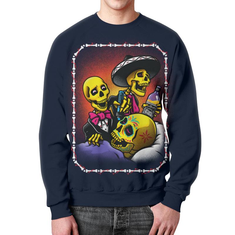 Свитшот унисекс с полной запечаткой Printio Mexican skull art свитшот унисекс с полной запечаткой printio evil skull
