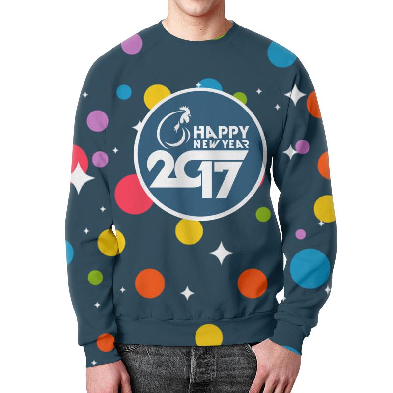 Свитшот мужской с полной запечаткой Printio Happy new year 2017 фартук с полной запечаткой printio happy new year