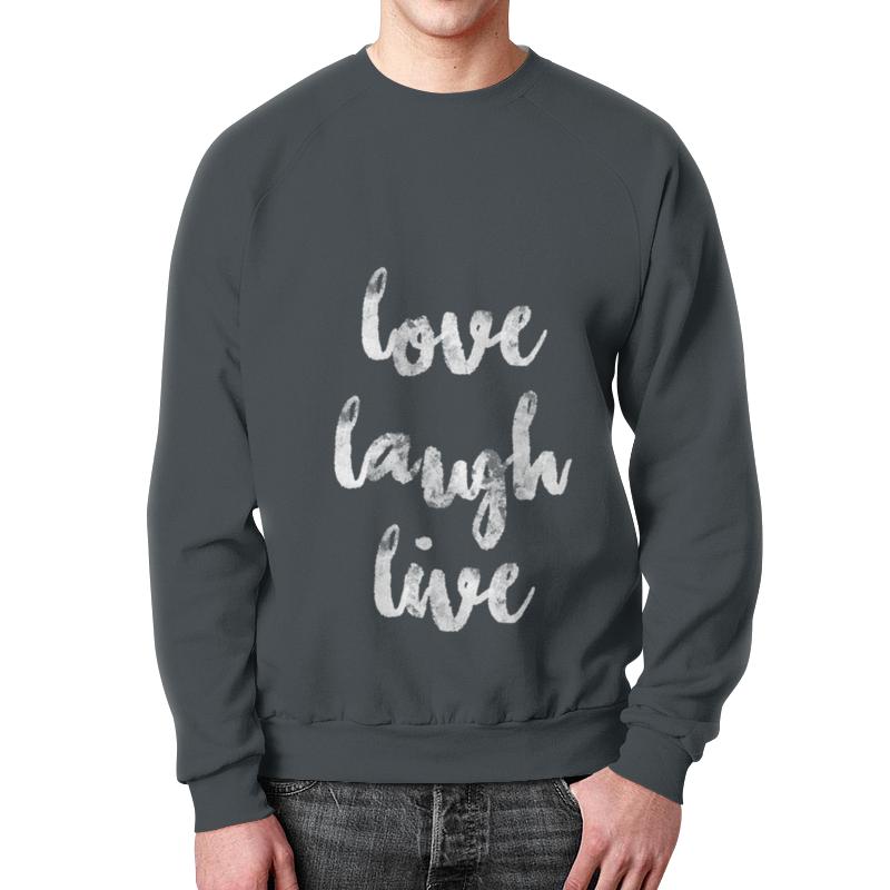 Свитшот унисекс с полной запечаткой Printio Love laugh live свитшот print bar annenmaykantereit live