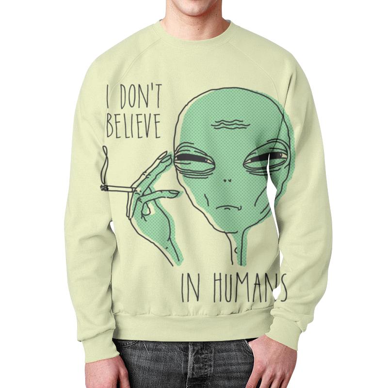 Свитшот мужской с полной запечаткой Printio Инопланетянин футболка с полной запечаткой женская printio i believe in unicorns я верю в единорогов