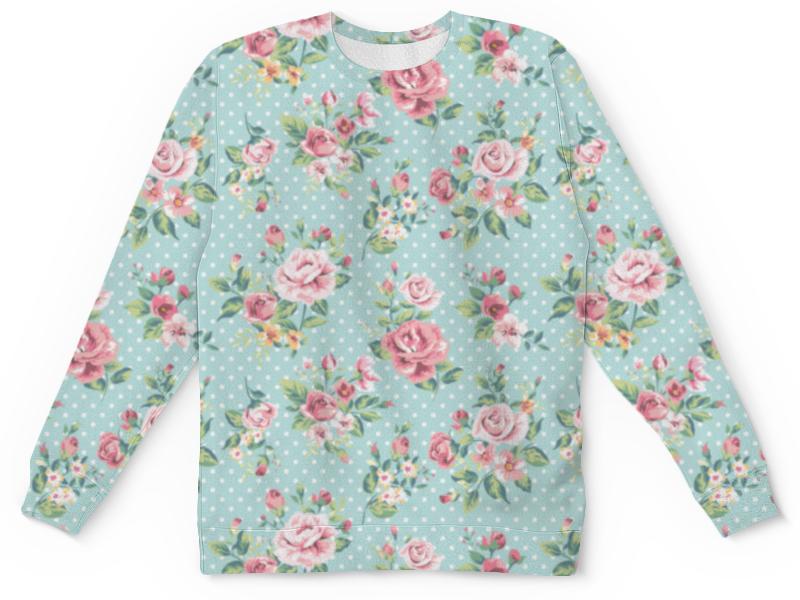 Свитшот унисекс с полной запечаткой Printio Flowers цена