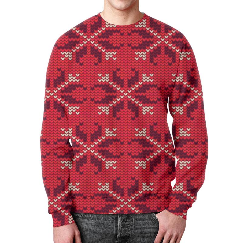 Свитшот мужской с полной запечаткой Printio Узор новогодний свитшот унисекс с полной запечаткой printio новогодний свитер