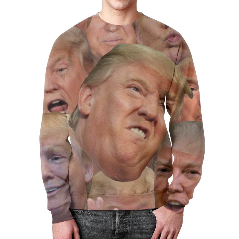 Свитшот мужской с полной запечаткой Printio Trump цена
