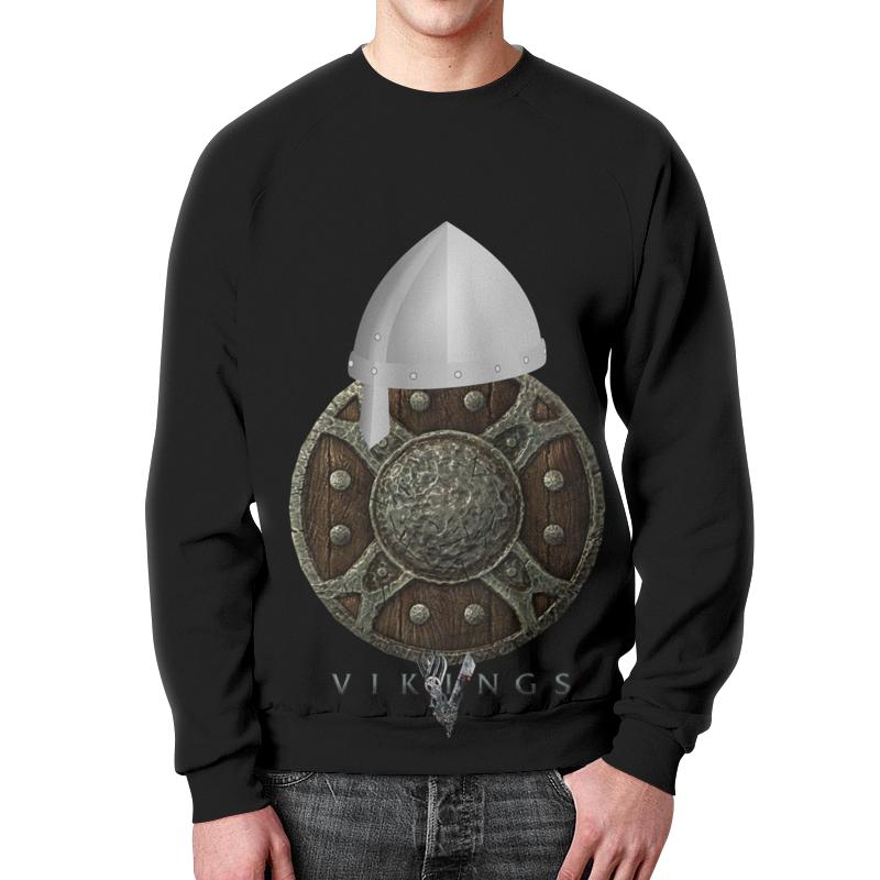 цена Свитшот мужской с полной запечаткой Printio Викинги. vikings