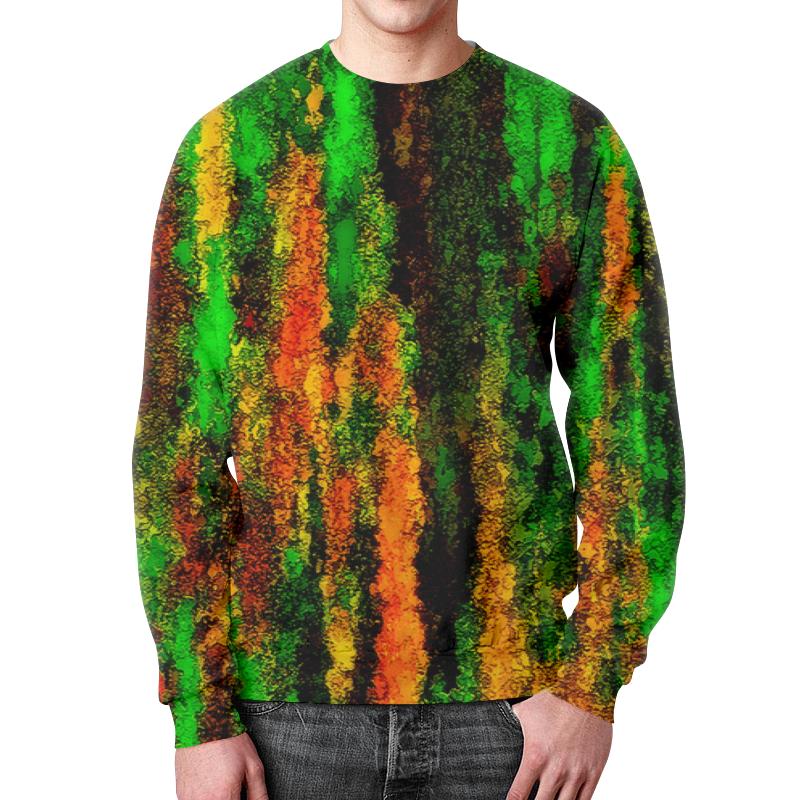 Свитшот мужской с полной запечаткой Printio Желто-зеленые краски цена