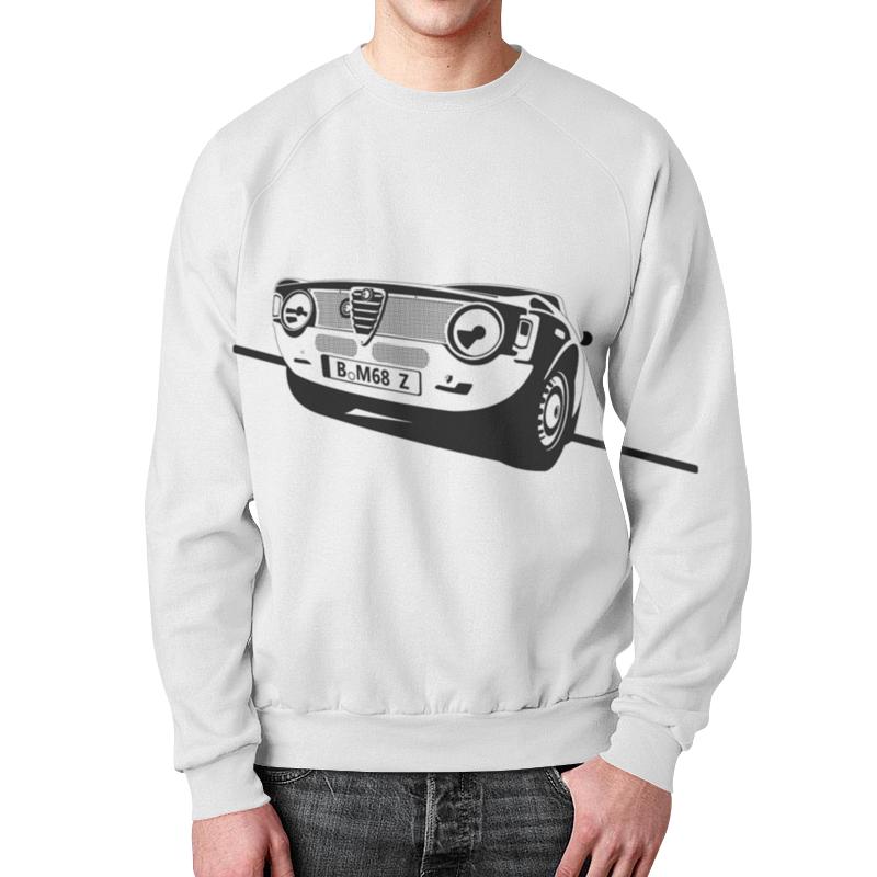 Свитшот мужской с полной запечаткой Printio Retro alfa romeo racing momo pai car styling steering wheel concave peach wood mahogany competitive racing retro abs universal steering wheel
