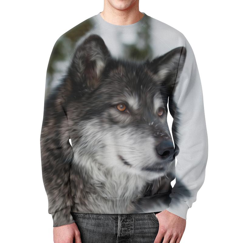 Свитшот унисекс с полной запечаткой Printio Серый волк футболка с полной запечаткой мужская printio красная шапочка и серый волк