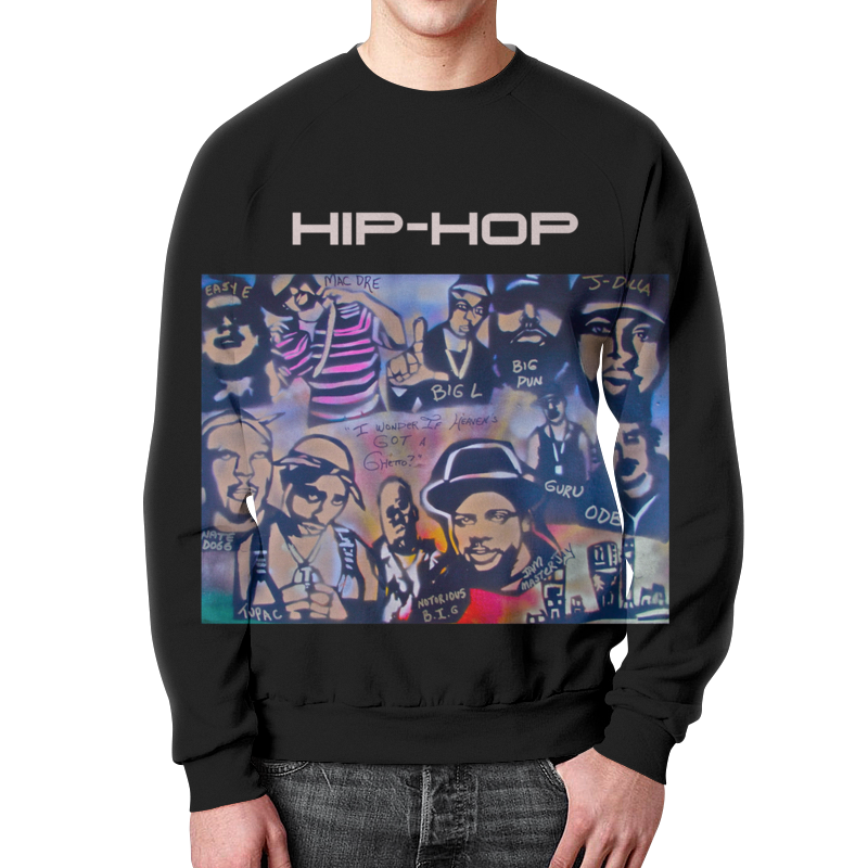 Свитшот мужской с полной запечаткой Printio Oldschool свитшот унисекс с полной запечаткой printio хотите танцевать hip hop