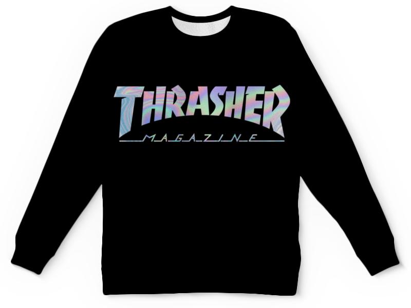 Свитшот унисекс с полной запечаткой Printio Thrasher holographic футболка трэшер алиэкспресс женская