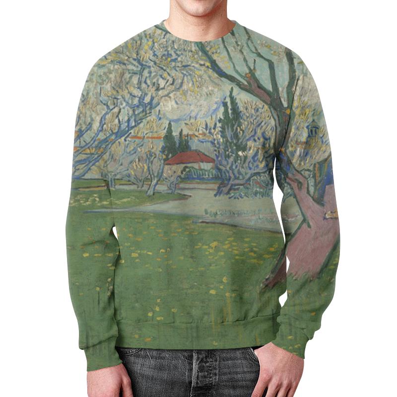 Свитшот мужской с полной запечаткой Printio Сады в цвету, вид на арль (ван гог) свитшот мужской с полной запечаткой printio персиковое дерево в цвету ван гог