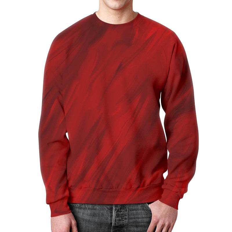 Свитшот унисекс с полной запечаткой Printio Красные краски цена