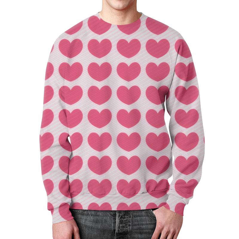 Свитшот мужской с полной запечаткой Printio Розовое сердце борцовка с полной запечаткой printio розовое сердце