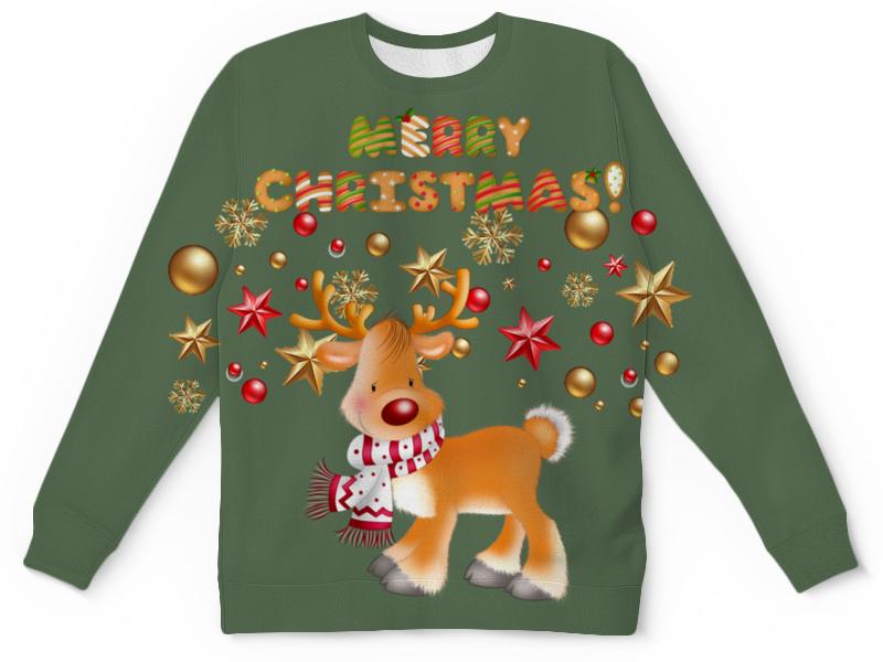 Свитшот унисекс с полной запечаткой Printio Merry christmas!