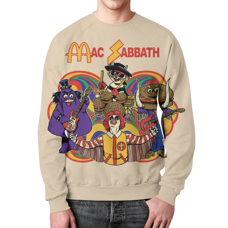 Свитшот унисекс с полной запечаткой Printio Mac sabbath/black sabbath black sabbath black sabbath live evil
