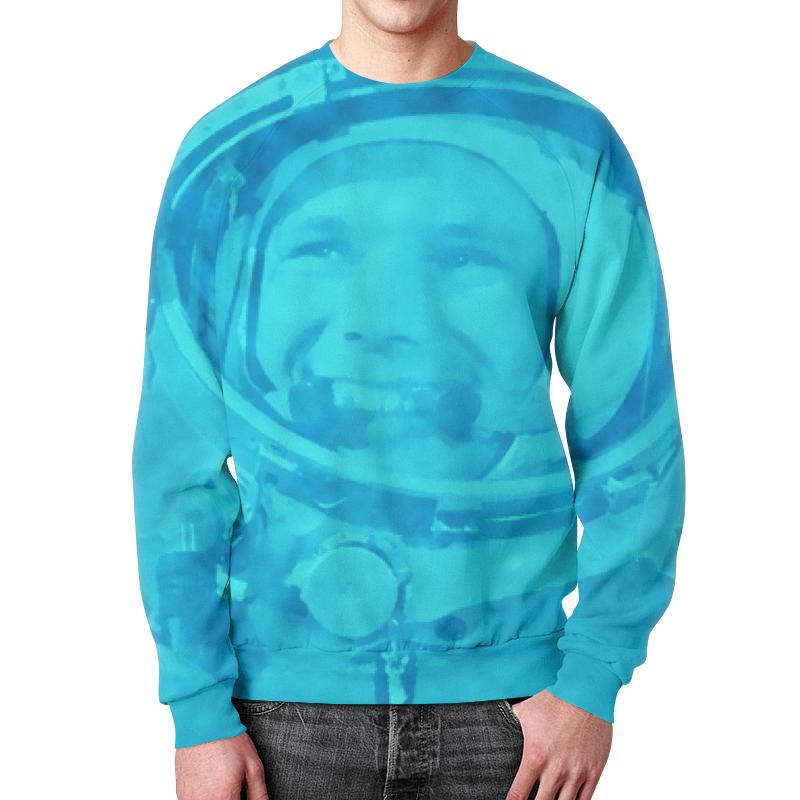 Свитшот мужской с полной запечаткой Printio Юрий гагарин свитшот print bar гагарин сноубордист