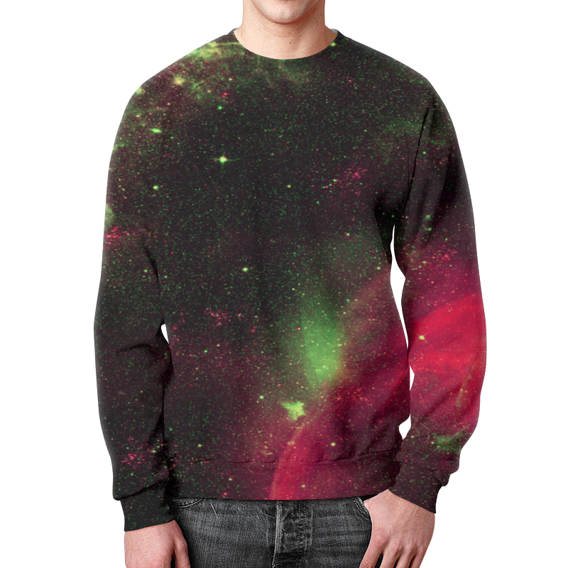 Фото - Свитшот мужской с полной запечаткой Printio Космос свитшот унисекс с полной запечаткой printio алфавит