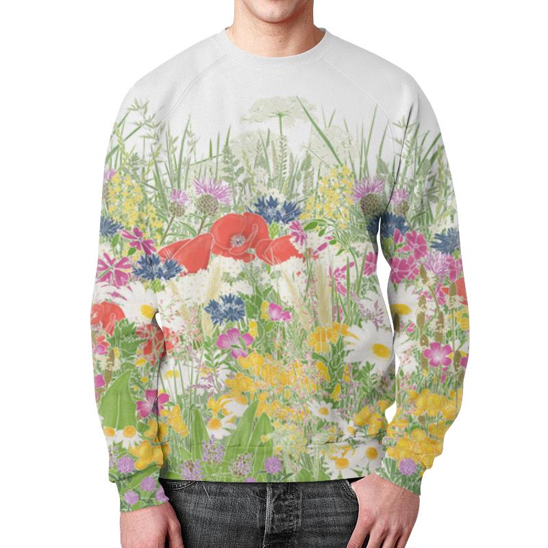 Свитшот унисекс с полной запечаткой Printio Цветочная поляна ароматизатор fouette ecology цветочная поляна мембранный