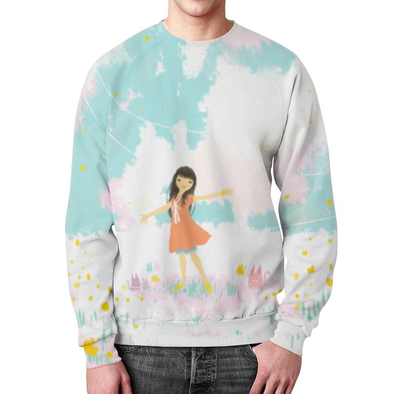 Свитшот мужской с полной запечаткой Printio Аниме девушка футболка с полной запечаткой printio аниме девушка