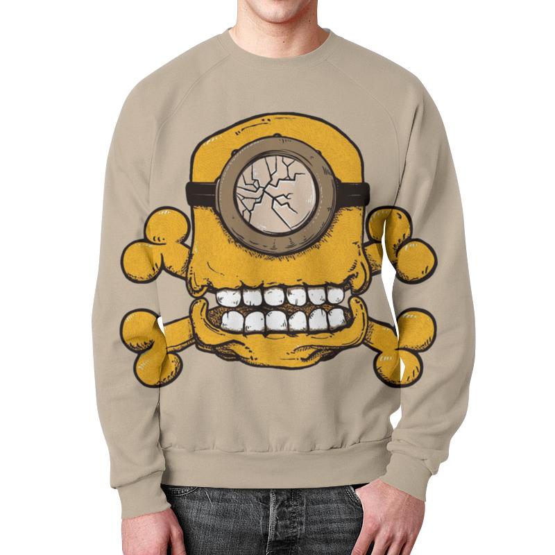 Свитшот мужской с полной запечаткой Printio Skull minion свитшот унисекс с полной запечаткой printio evil skull