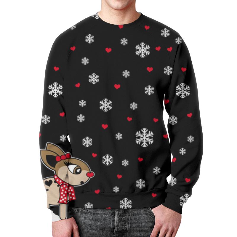 Свитшот мужской с полной запечаткой Printio Новогодний свитер футболка классическая printio хочу на море