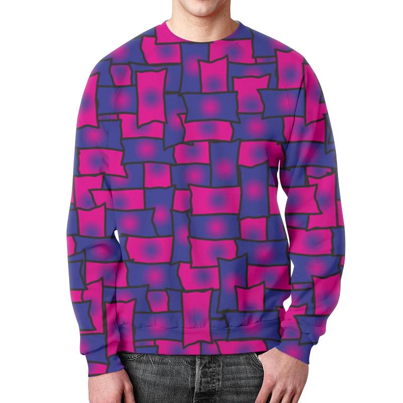 Свитшот мужской с полной запечаткой Printio Прямоугольники леггинсы printio прямоугольники