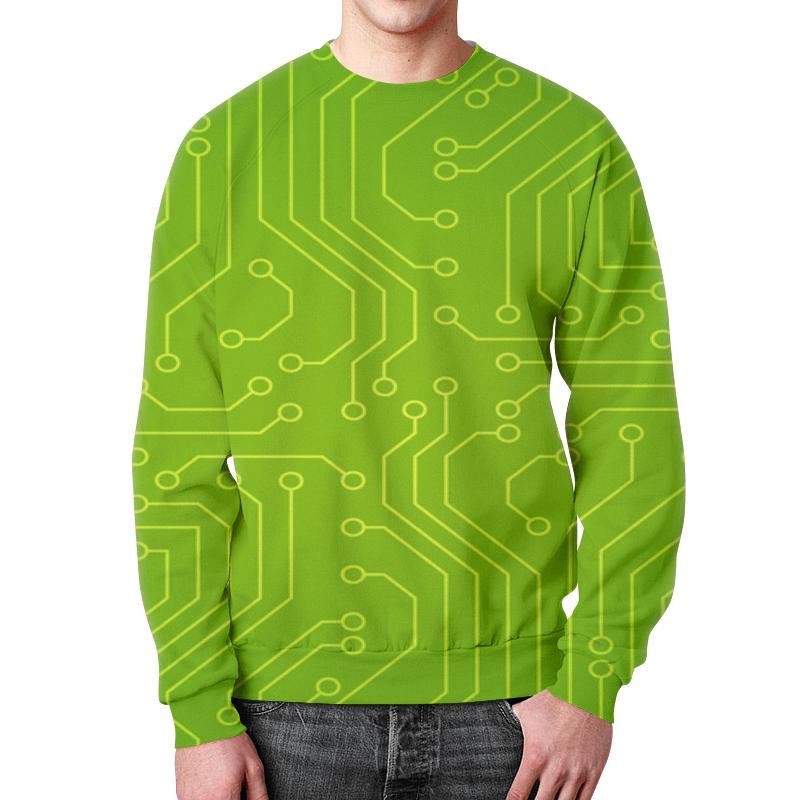 Printio Зелёная плата свитшот мужской с полной запечаткой printio материнская плата