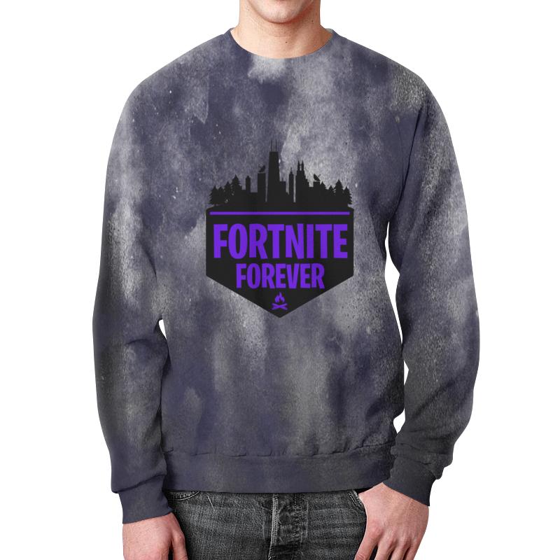 Свитшот мужской с полной запечаткой Printio Fortnite forever свитшот print bar dimebag forever