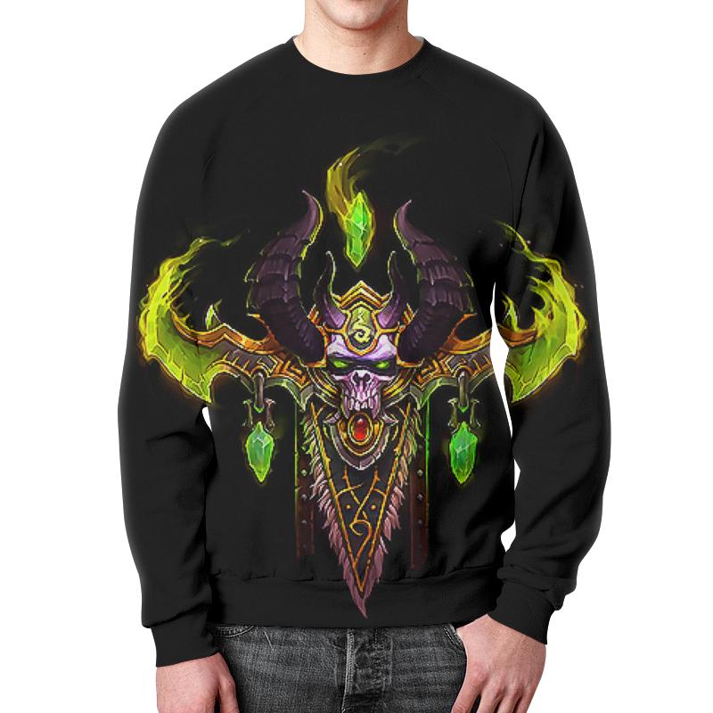 Свитшот мужской с полной запечаткой Printio World of warcraft legion цена