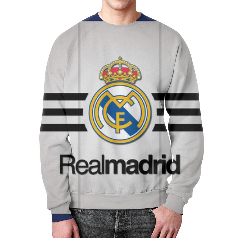 Свитшот унисекс с полной запечаткой Printio Реал мадрид (футбол) футболка рингер printio real madrid реал мадрид