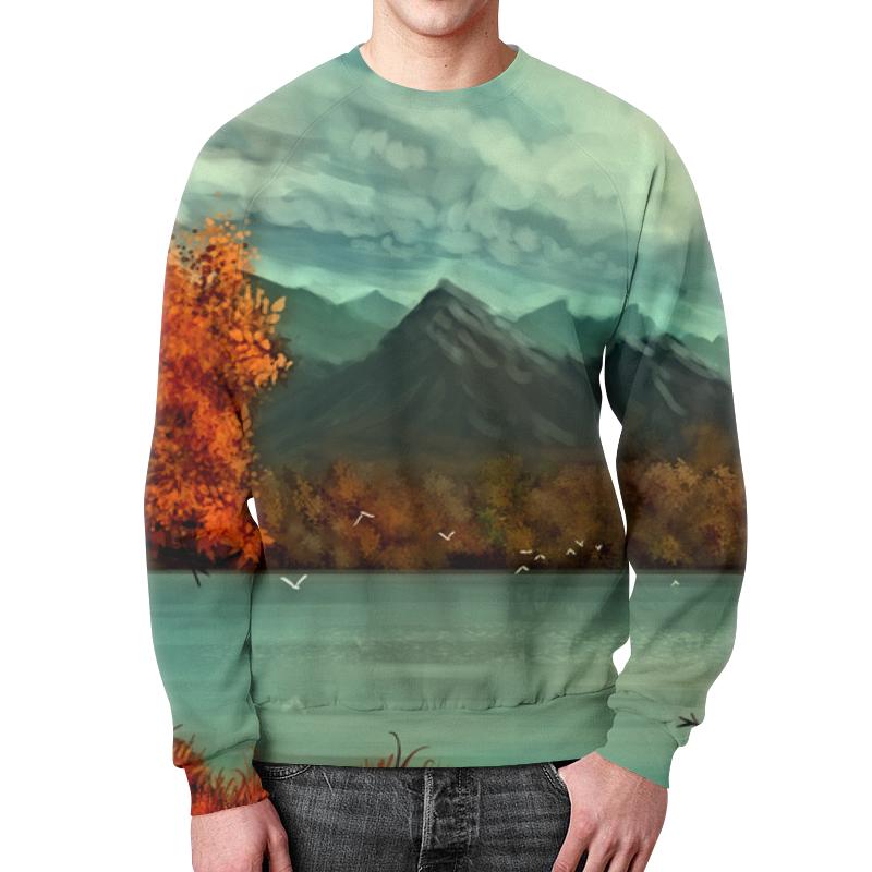 Свитшот унисекс с полной запечаткой Printio Осень в горах осень в горах