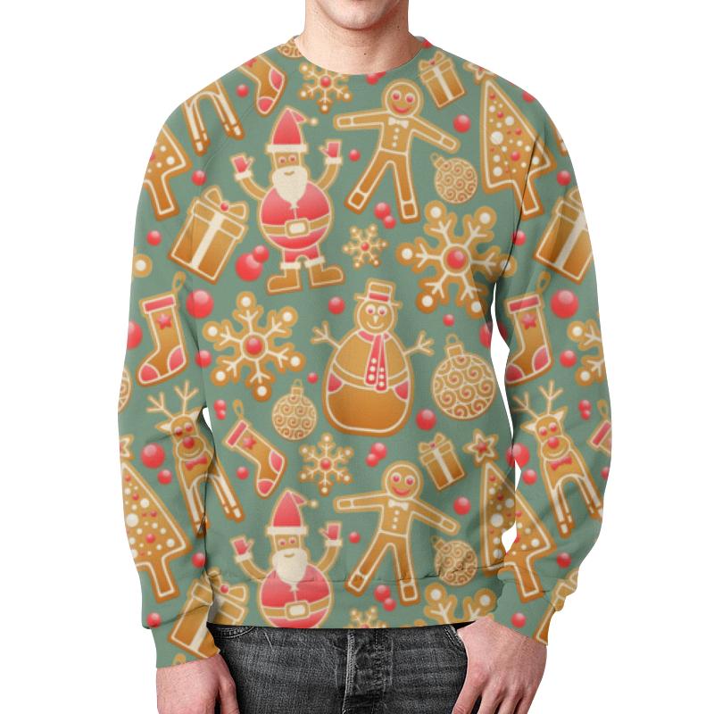 Printio Пряничное настроение свитшот мужской с полной запечаткой printio новогоднее настроение