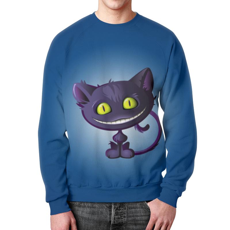 Свитшот унисекс с полной запечаткой Printio Чеширский кот плюшевая маска чеширский кот uni