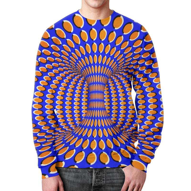 Свитшот унисекс с полной запечаткой Printio Спираль иллюзия движения абстракция. интернет аптеки алматы внутриматочную спираль