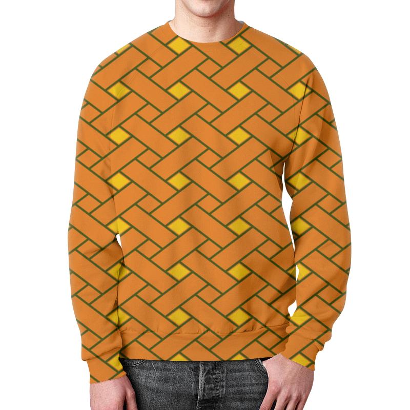 Свитшот мужской с полной запечаткой Printio Оранжевые линии цена
