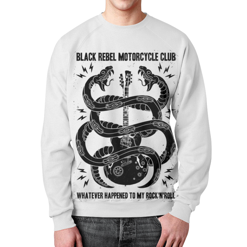 Свитшот мужской с полной запечаткой Printio Black rebel motorcycle club