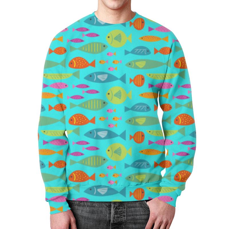 Свитшот мужской с полной запечаткой Printio Морские рыбки свитшот print bar морские мечты