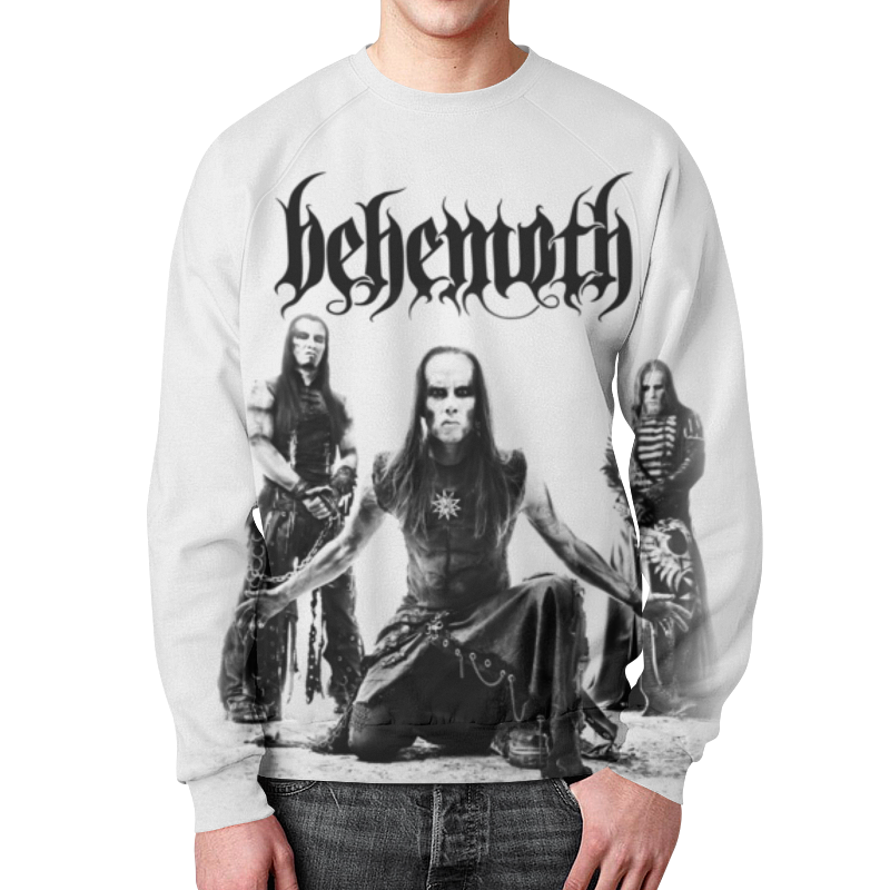 Свитшот мужской с полной запечаткой Printio Behemoth behemoth behemoth pandemonic incantations