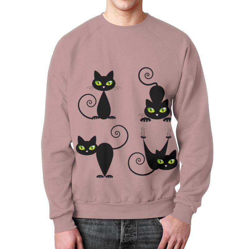 Свитшот мужской с полной запечаткой Printio Кошки 7 свитшот print bar взгляд кошки