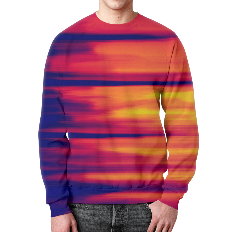 Свитшот мужской с полной запечаткой Printio Размытые цвета футболка с полной запечаткой для мальчиков printio размытые цвета